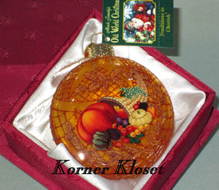 Merck Family's Old World Christmas Ornament - Inside Art - Horn of Plenty - NIB - $20.27