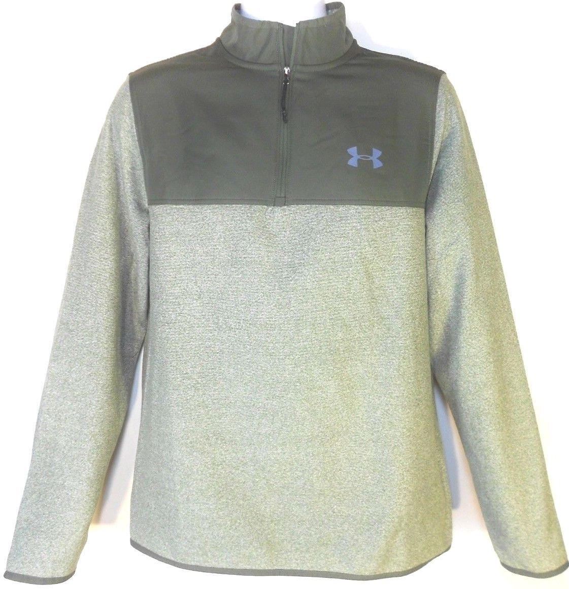Primary image for UNDER ARMOUR MEN'S CGI FLEECE 1/4 Zip HOODIE JACKET Sz M, #1282948-330
