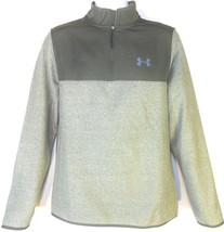 UNDER ARMOUR MEN'S GREY/OLIVE 1/4 Zip HOODIE JACKET Sz M, #1282948-330 - $42.99