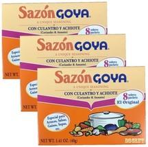 Goya Sazon Con Culantro Y Achiote - Seasoning Coriander & Annatto 1.41 o... - $9.89