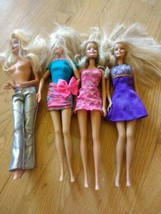 Barbie Dolls Mixed Lot of 4.  1998 heads. 1999, 2009, 2010 bodies. - $9.89