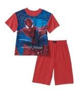 Marvel The Amazing Spiderman 2 Boys 2 Pc Short  Pajamas  Size  4-5  NWT - $13.59