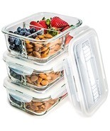 Meal Prep Food Storage Containers Locking Lid Oven Savers Portion Control - $521,38 MXN