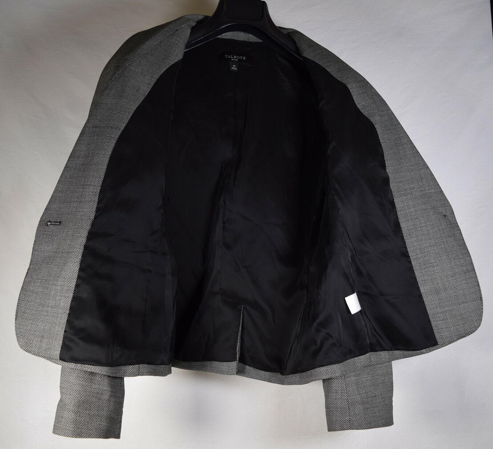 Talbots Womens Wool One Button Blazer Petite