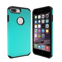 Green Hybrid Case for Apple iPhone 6s Plus & iPhone 7 Plus- Hard Cover USA Fast! - $10.38