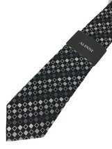 "New ALFANI Men's Silk Neck Tie Black Designer 58"" - $11.95"