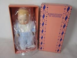 """Vintage Kingstate The DollCrafter Porcelain 5.5"""" Baby Blue Striped - $9.89"""
