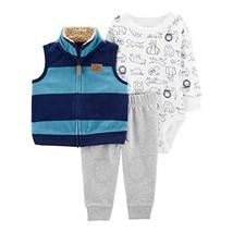 Carter's Baby Boys' Vest Sets (18 Months, Blue/Heather/Animal) - $23.97