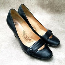 "Sofft Womens  1022801 Sz 7.5 W Black  Leather Slip On 3.5"" Heels Pumps - $26.99"