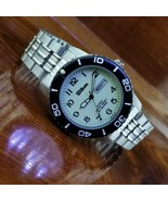 NEW Mens Vintage WILSON Day Date Stainless Steel Luminous Dial Watch 40MM - $54.95