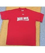 Under Armour Mens Boston Red Sox Heatgear Medium LOOSE T-Shirt - Red/WHI... - $14.01