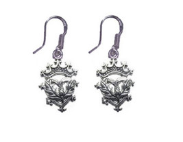 NICE Celtic Scottish Irish Thistle Sterling silver 925 Crown Jewelry Ear... - $26.56