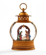 "Nativity Water Lantern Jesus, Mary & Joseph - Lights Up w Warm Light 10"" High"