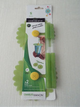 Charles Viancin Silicone Green Daisy Cover and Sip Set - $24.99