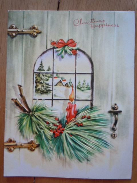 Primary image for Vintage Christmas Happiness Wipco Greeting Card