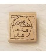 Stampin Up Easter Egg Basket Wood Mounted Rubber Stamp 2004  NEW - $4.39