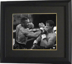 Mike Tyson signed Boxing 16X20 Photo Custom Framed- JSA Hologram (with R... - $179.95