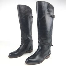 Frye Womens Boots Size 6 Tall Dorado Riding Leather Knee Dark Brown Buckle Strap - $2.132,02 MXN