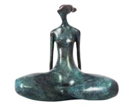 Abstract Yoga Woman Figurine Indoor Bronze Sculpture Ornaments Vintage S... - $296.99