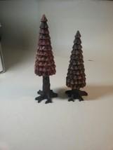 Department 56 Pine Cone Trees 2 Pcs New In Box Retired 1995 #52213 Village Nib - $22.62