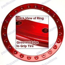 """Empi 9774 Race Trim Bead Lock Wheel Ring 15"""" Powder Coated Candy Red, Each - $94.95"""