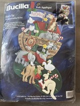 Vintage 1997 Bucilla Noahs Ark Animals Christmas Felt Stocking Kit 83662 - $49.54