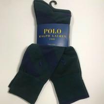 Polo Ralph Lauren Repo- Stripe Sock 2 Pack. Hunter Green/Navy. Nwt - $16.73