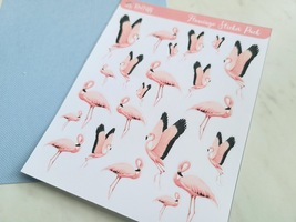 Pink Flamingo Sticker Sheet