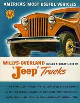1947 Willys - Overland - Jeep Trucks - Promotional Advertising Poster - $9.99+