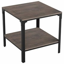 IRONCK End Tables Living Room, Side Table with Storage Shelf, Wood Look ... - $68.98