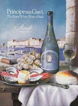 Wine Principessa Gavi Royal White  of Italy Seaside 1986 Ad - $14.99