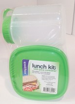 easy·pack lunch on-the-go kit w Reusable Containers & 16oz juice contain... - $11.88