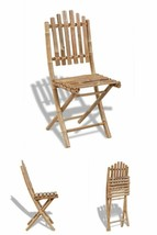 Folding Chair Set 2/4 Pcs Wooden Dining Patio Outdoor Seats Balcony Furn... - $115.21