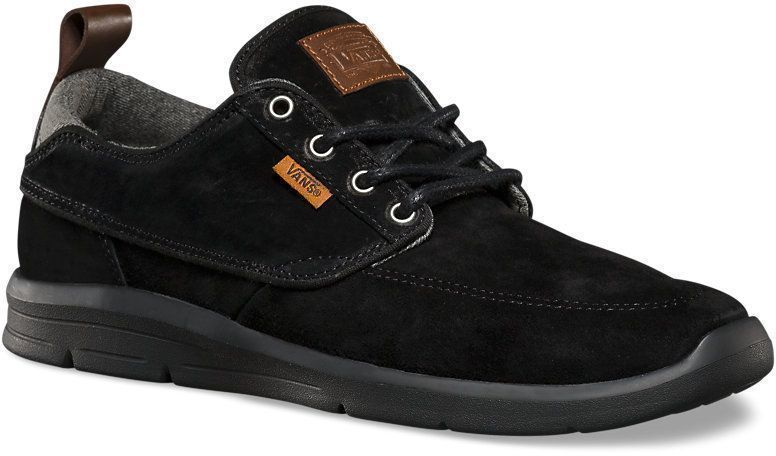 VANS Brigata Lite + (Suede) Black Chambray UltraCush MEN'S 7 WOMEN'S 8.5