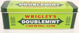 Wrigley's Doublemint Candy Tin Green Ad Advertising Box Collectible Chew... - $14.84
