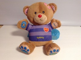 "Vtech V Tech Care & Learn Bear Plush Toy 13"" Interactive - $6.93"