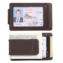 Money Clip, Front Pocket Wallet, Leather RFID Blocking Strong Magnet thin Wallet - $24.20