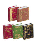 Book Set (5) Christmas Classics NI126 A Novel Idea DOLLHOUSE Miniature - $11.83