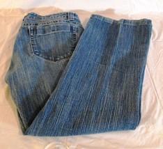 Lee One True Fit Womens Size 7/8M Medium Wash Wide Leg J EAN S Shorts (C) - $13.00
