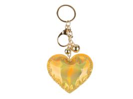 Vinyl Iridescent Holographic Stuffed Pillow Keychain Handbag Charm - $11.95