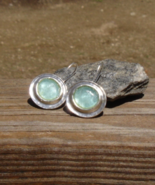Ancient Roman Glass Earrings, SR Luli Hamersztein, 925 Solid Sterling, I... - $210.00
