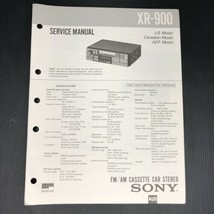 Sony Service Manual for the XR-900 Cassette Car Stereo - $11.99