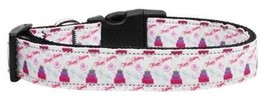 Mirage Pet Products Cakes and Wishes Nylon Ribbon Collar for Pets, Medium - $15.60