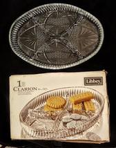 """Libbey Clarion Server Divided Serving Dish 11"""" Elegant Pressed Pattern G... - $14.83"""