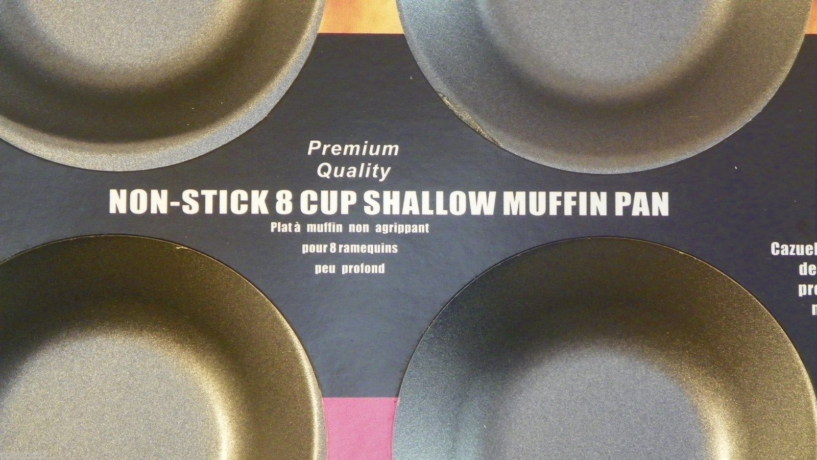 Nonstick 12 cup shallow muffin Top pan Premium Quality Heavy Guage Carbon Steel