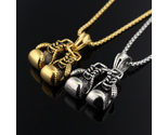 S design pendan necklace gold silver plated boxing glove charm jewelry initial 374 thumb155 crop