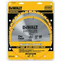 DEWALT 12-Inch Miter Saw Blade, Crosscutting, Tungsten Carbide, 80-Tooth, 2-Pack - $80.79