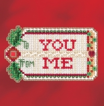 Gift Tag 2017 Seasonal Winter Series cross stitch kit Mill Hill - $7.20