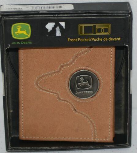 John Deere LP50951 Front Pocket ID Money Clip tan boxed