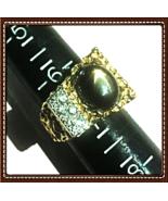 Men's DIAMOND(.40CTW) BLACK STAR SAPPHIRE(7.25CT) 14K GOLD NUGGET RING ... - $2,250.00